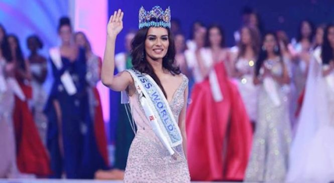 Who is that ace designer behind Maanushi Chillar's Miss. World look?
