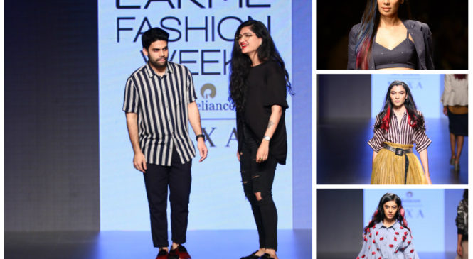 """Lakme Salon's """"Free Spirits – Colour collection"""" at LFW 2018 brought the glamour of IKAI by Ragini Ahuja and Dhruv Kapoor"""