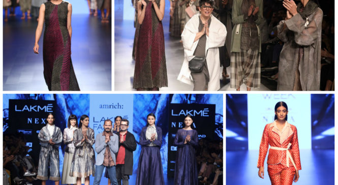 'Amrich' and 'Prahara' brought a melange of fabrics and detailing to LFW 2018