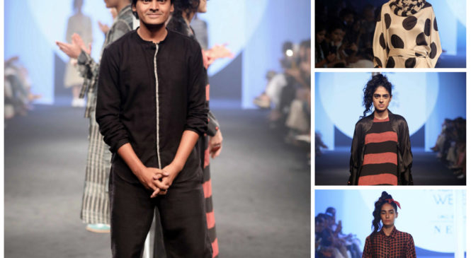 Designer Naushad Ali's experiments with textiles turned into ideal summer wear in LFW 2018
