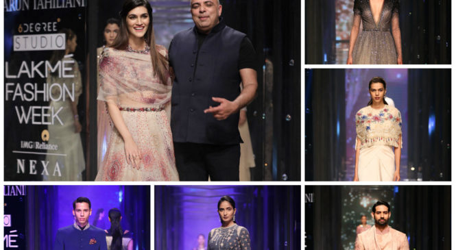 Layered Celestial Glamour from Tarun Tahiliani ended Day 3 of Lakme Fashion Week 2018