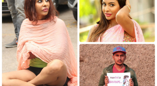 Actress Strips in a protest against Casting Couch; Director announces his support