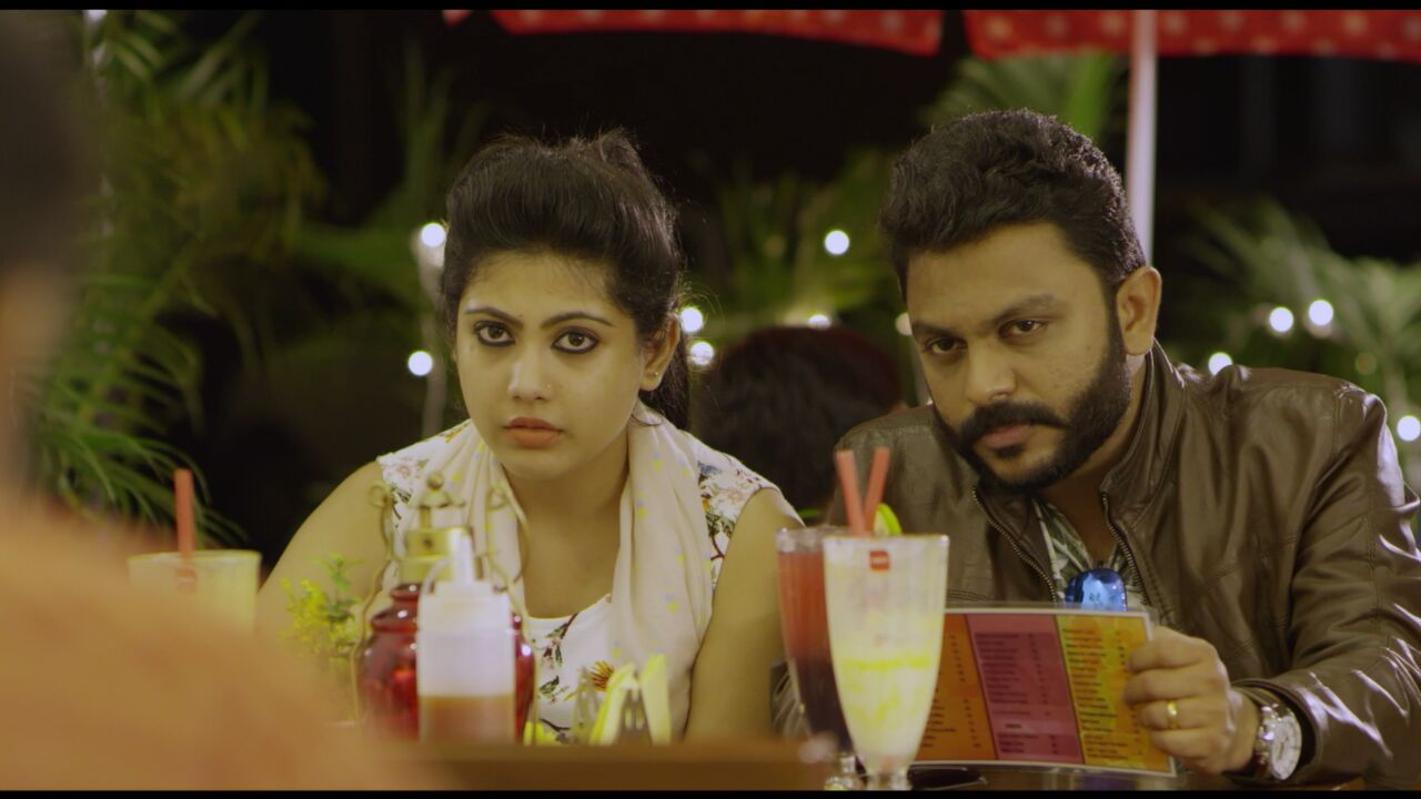 Mathukutty and Nayana Anil in the movie