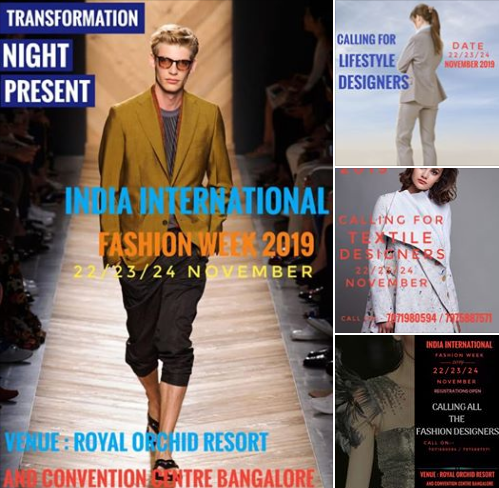 India International Fashion Week Bangalore – 2019