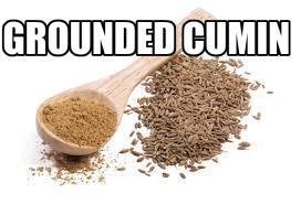 Grounded cumin